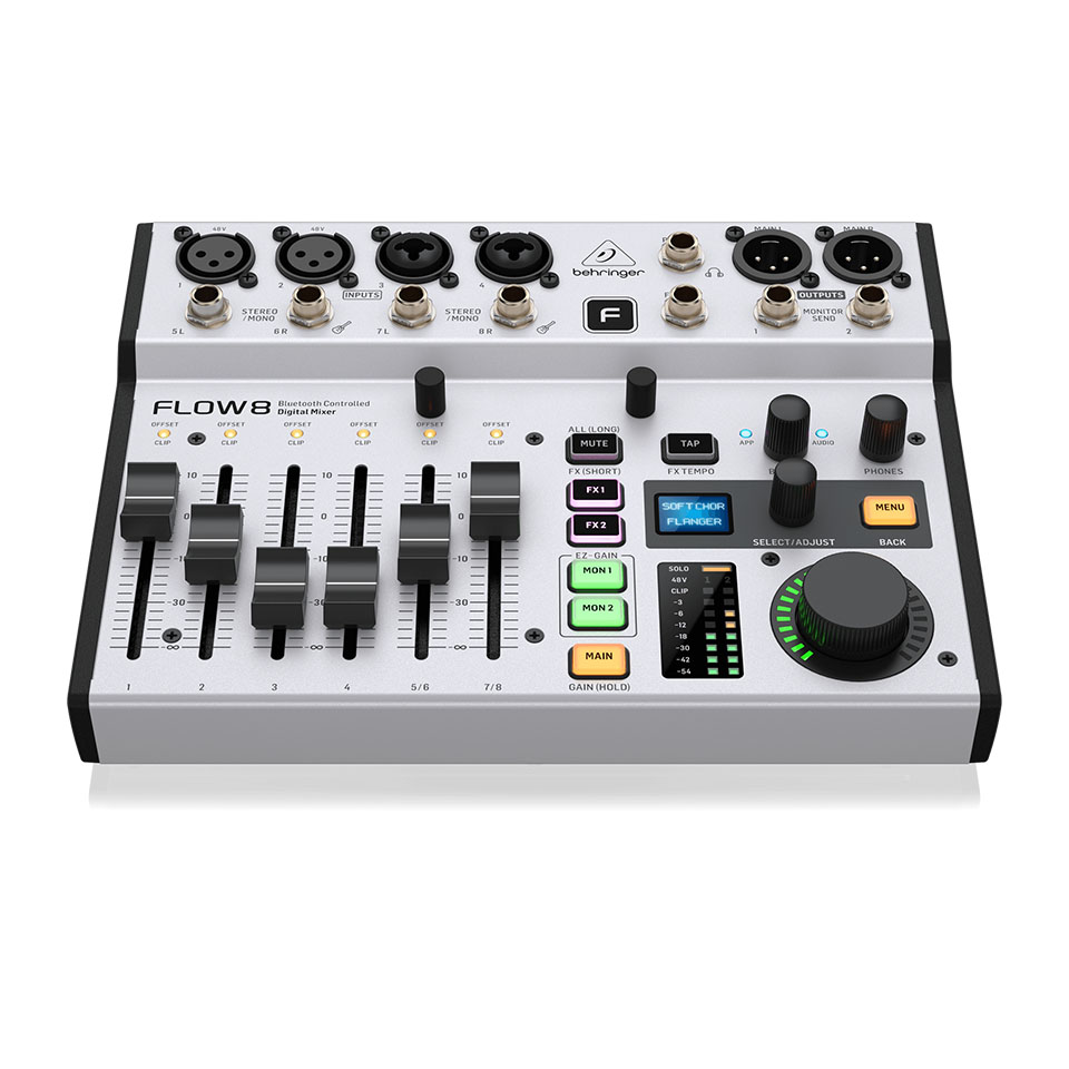 FLOW 8 Digital Mixer 8 Input 2 FX USB Audio Interface Behringer