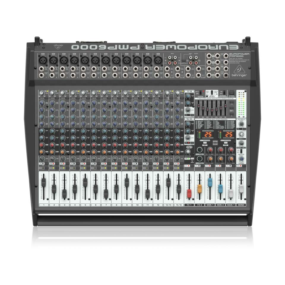 Behringer PMP6000 Mixer Liền Công Suất 1.600w 20 channels 2 x FX