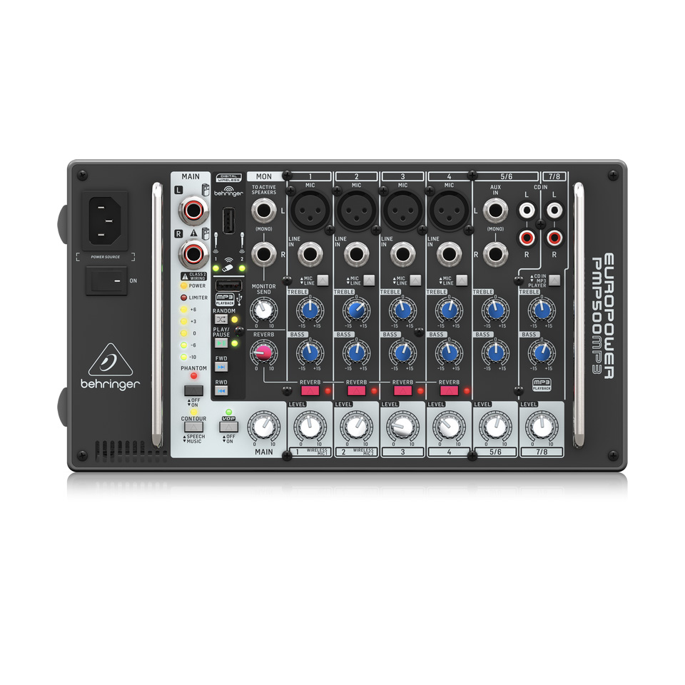 Behringer PMP500MP3 Mixer Liền Công Suất 500w 8 channels MP3