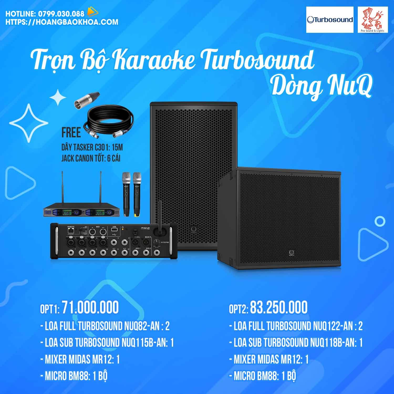 Trọn Bộ Karaoke Loa Turbosound Series NuQ
