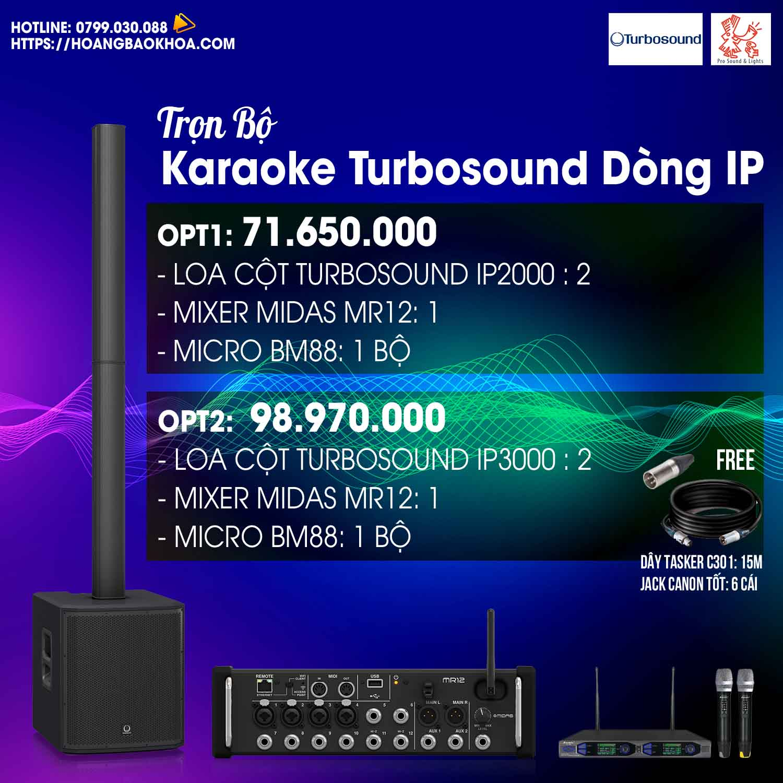 Trọn Bộ Karaoke Cao Cấp Loa Turbosound Series iP