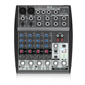 Behringer 802 Mixer Analog 8 in 2 Bus Tích Hợp Mic Preamp EQ