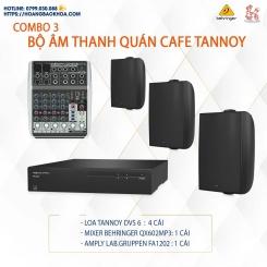 Trọn Bộ Âm Thanh Quán Cafe Thương Hiệu Tannoy Combo 3