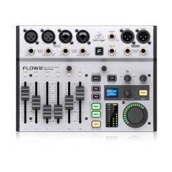 FLOW 8 - Digital Mixer 8 Input 2 FX USB Audio Interface