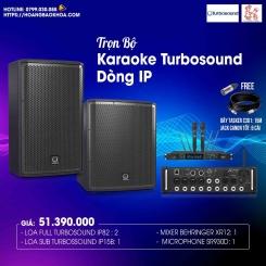 Trọn Bộ Karaoke Giá Tốt Loa Turbosound Sêri iP