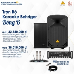 Trọn Bộ Karaoke nge nhạc Giá Tốt Loa Behringer Series B