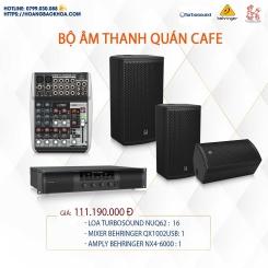 Trọn Bộ Âm Thanh Quán Cafe Thương Hiệu Turbosound