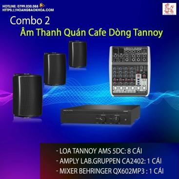 Trọn Bộ Âm Thanh Quán Cafe Thương Hiệu Tannoy Combo 2