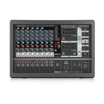 PMP580S Mixer Behringer Analog 500-Watt 10-Channel Klark Teknik Multi-FX FBQ