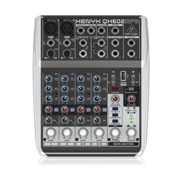 Behringer QX602MP3 Mixer Analog 6 in 2 Bus Tích Hợp Mic Preamp, EQ MP3,FX