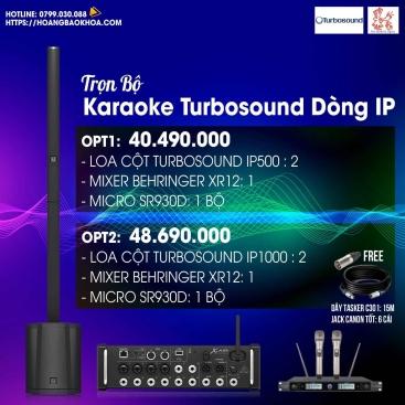 Trọn Bộ Karaoke Loa Turbosound Series iP