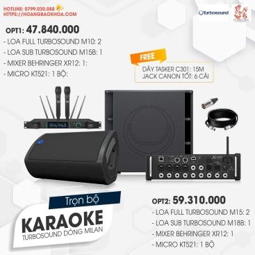 Trọn Bộ Karaoke Loa Turbosound Series  M