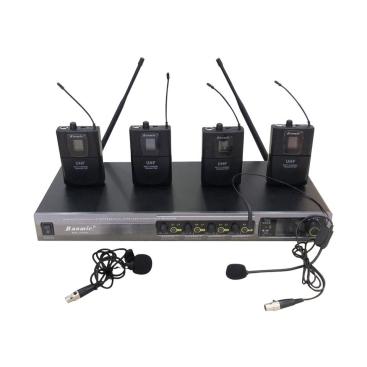BM704K Bộ 4 microphone Cài áo và 4 headset BaoMic