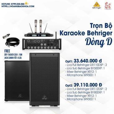 Trọn Bộ Karaoke Giá Tốt Loa Behringer Series D