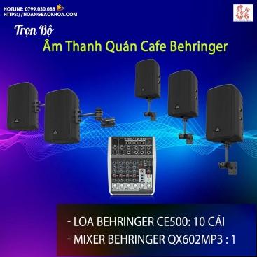 Trọn Bộ Âm Thanh Quán Cafe Thương Hiệu Behringer